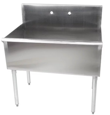 "Stainless Steel 16-Gauge Deep Compartment Commercial Utility Sink 36"" x 24""x 14"""