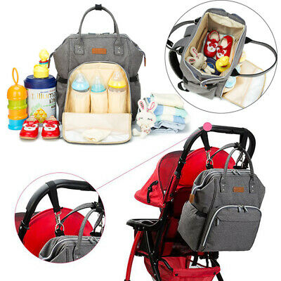 3Pcs Mummy Bag Backpack Baby Diaper Nappy Changing Rucksack Mommy Nursing Bag UK