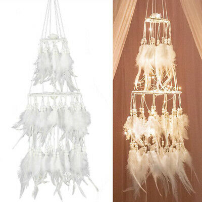 Dream Catcher LED Feather Dreamcatcher String Light Baby Room Hanging Decors