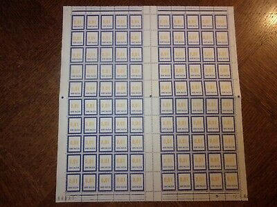 France Feuille Complete 100 Timbres Fictifs F158 Neufs**. Cote 100 Euros