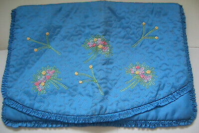 Ladies Vintage Blue Padded and Embroidered Nightdress Case