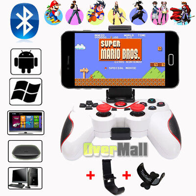 White Wireless Bluetooth Gamepad Game Controller For Android TV Box Tablet PC US