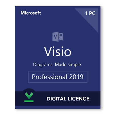 Instant 1PC's - Official Microsoft Visio Professional 2019 Full Version! 32/64
