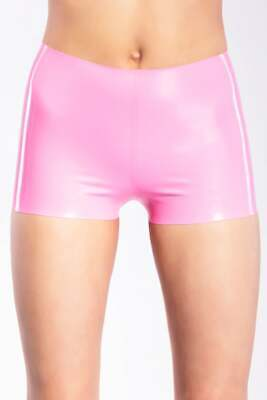 Latex Catsuit Rubber Gummi Unisex Basic Classic Pink Shorts Sexy Customized .4mm