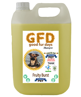 Fresh Pet Shampoo GFD Conditioner Dog Puppy Grooming - Fruity Burst 5 Litre
