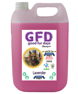 Fresh Pet Shampoo GFD Conditioner Dog Puppy Grooming - Lavender 5 Litre