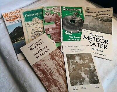 Huge collection of vintage National Parks guides maps METEOR CRATER OLYMPIC