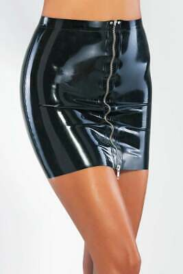 Latex Catsuit Rubber Gummi Medium Dress Front Zipper Sexy Skirts Customize 0.4mm