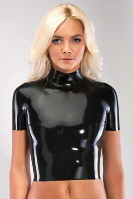 Latex Catsuit Rubber Gummi Classic Short Sleeve High Waist Tops Customized 0.4mm
