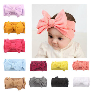 Kid Girl Babys Headband Toddler Bow Hair Band Headwear Soft Accessories Lovely