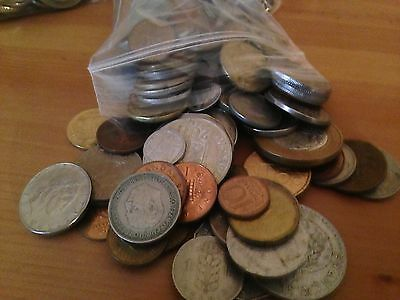 Bulk Lot of 100 Assorted World Foreign Coins- Nice Assorted Mix!