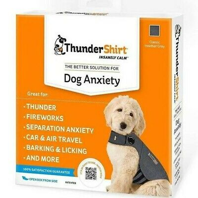 Thundershirt - Dogs Size Small - Solid Gray Anxiety Calming Treatment - Hgs-T01