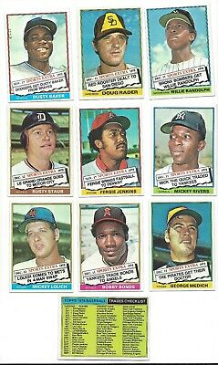 1976 Topps Traded Baseball Complete Set 44 Nmmt Sharp Corners