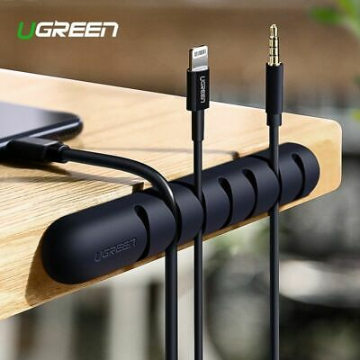 Ugreen Cable Organizer Silicone USB Cable Winder Flexible Cable Management NE