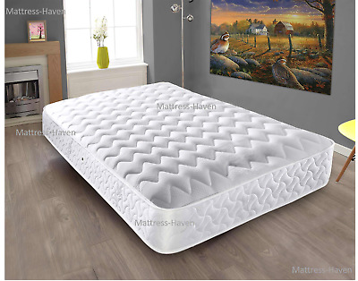 Orthopeadic Memory foam spring Quilted Sprung Mattress 3ft 4ft6 5ft 6ft Matress
