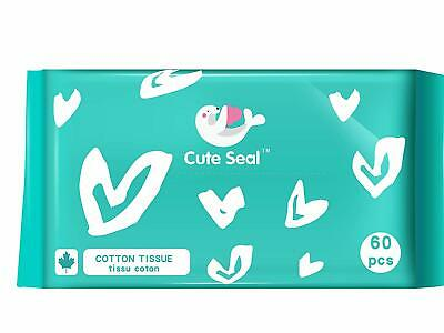 Cute Seal Dry Cotton Baby Tissue 60 count x12 Packs