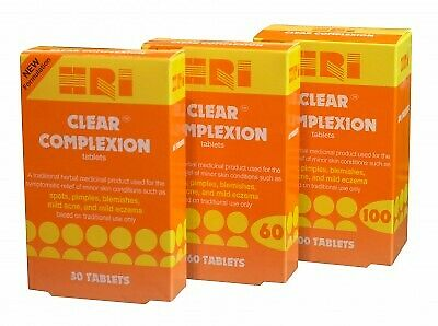 HRI Clear Complexion Tablets - 30/60/100 Tablets
