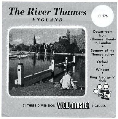 3 VIEW-MASTER 3D Reels📽️THE RIVER THAMES, ENGLAND, C 276, London,Windsor,Oxford