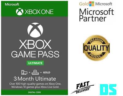 3 Month Xbox Game Pass Ultimate Xbox One / PC (Gold + Game pass) *Region Free*