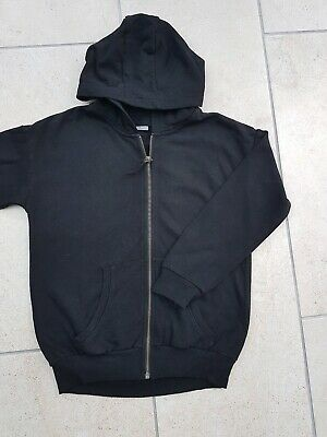 Girls Next Black Hoodie Zip Up Jacket Sports Top Size 11 Years Ideal for PE