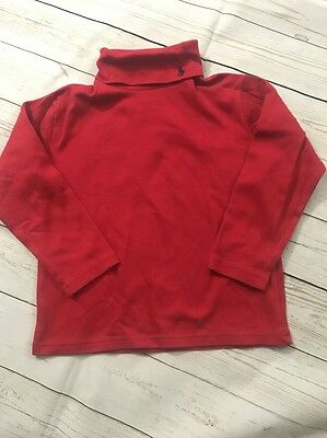 Baby Polo Turtleneck Ralph Lauren Size 5 Red Toddler Holiday Back To School