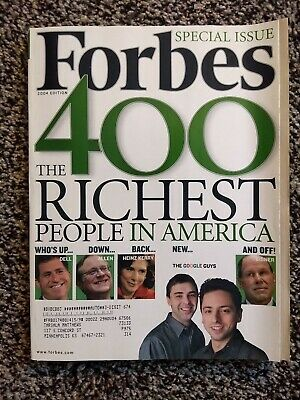 THE FORBES 400 Magazine, RICHEST PEOPLE IN AMERICA, Special Issue 2004 Edition