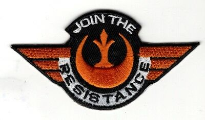 Star Wars Join The Resistance Wing patch 3 1/2 inch patch