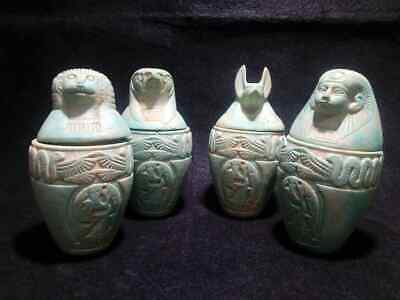 Rare Ancient Egyptian Antiques  Canopic Jars ( 990–969 BCE)