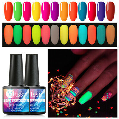 8ml MTSSII Luminous Fluorescent Varnish Nail Gel Polish Glow In Dark Party Decor