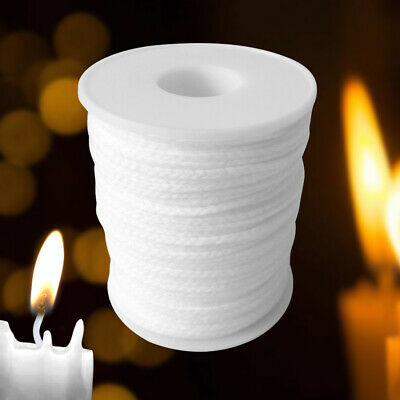 61m For Candle Making Cotton Waxed Smokeless Core Crafts Supplies Candle Wick