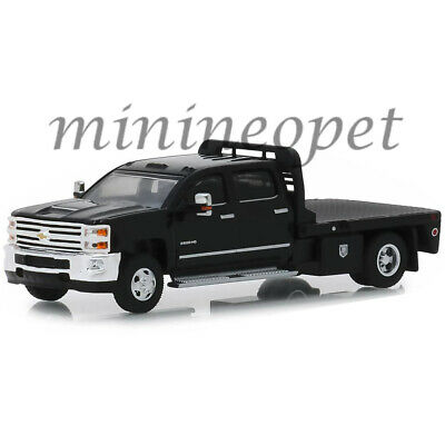 Greenlight 46010 A Dually 2018 Chevrolet Silverado 3500 Hd Flatbed 1/64 Black