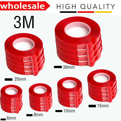 RED Film 3M Transparent DOUBLE SIDED STICKY ADHESIVE TAPE Cell Phone Repair A+++