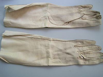 Gloves evening wedding size 5 3/4 calf leather cream PENBERTHY of Oxfordshire .3