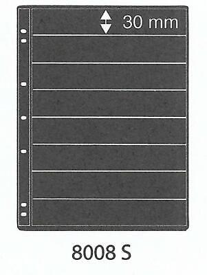 PRINZ ProFil 8 STRIP BLACK STAMP ALBUM STOCK SHEETS Pack of 50 Ref No: 8008S