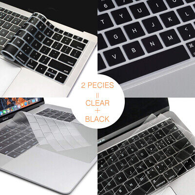 "2-PK Keyboard Cover MacBook Pro 13"" 15"" Touch Bar 2019 2017 2018 Protector Guard"