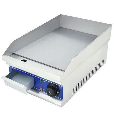 New Commercial Electric Griddle Countertop BBQ Grill Steak Teppanyaki Hotplate
