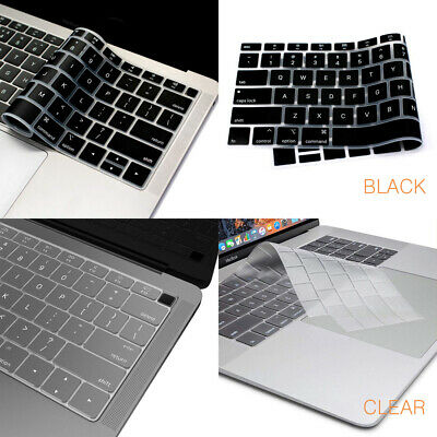 Ultra Thin Keyboard Cover Soft TPU Skin for MacBook Pro Air 13 15 17 2019 - 2016