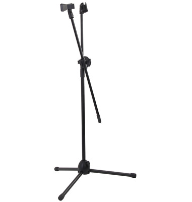Professional Boom Microphone Stand Adjustable Mic Holder Tripod 1 to 2M+2 Clips