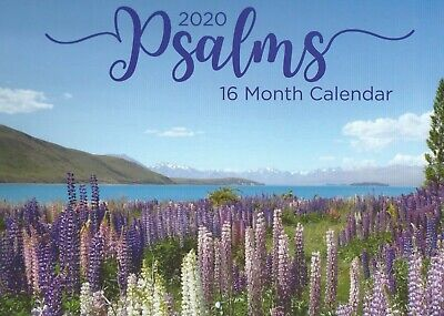 2020 Psalms 16 Month Calendar