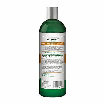 Vet's Best Flea Dogs Puppy Shampoo Natural Formula Fast Itch Skin Relief 470ml
