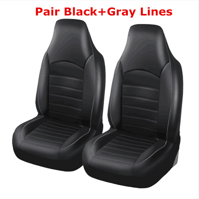 Synthetic Leather Auto Car Seat Covers 2 Front Front High Back Bucket Seat Cover