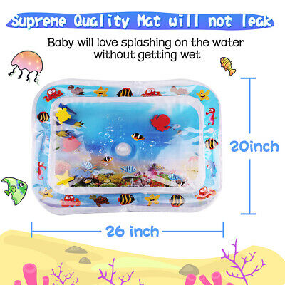 26x20'' Inflatable Water Play Mat Newborn Baby Infant Toddlers Mattress Fun Time