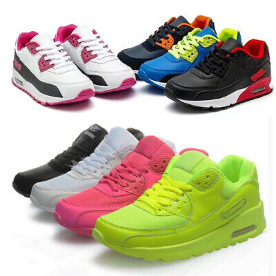 Kids Boys Girls Trainers Running Sneakers Air Cushion Lace Up School Shoes Size