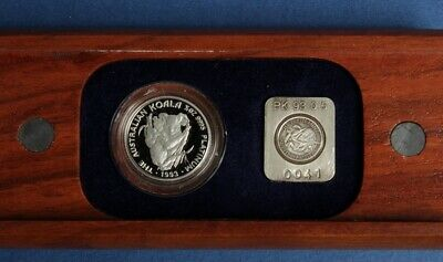 Australia: 1993 $50 ½oz Platinum Koala Proof RARE ONLY 250 SOLD, original box