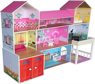 Kiddi Style HUGE MANSION MANOR DOLLS HOUSE Wooden Pretend Play Toy BN