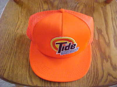 Vintage Tide Racing Team Snapback Baseball Cap Hat  Trucker Adjustable ORANGE