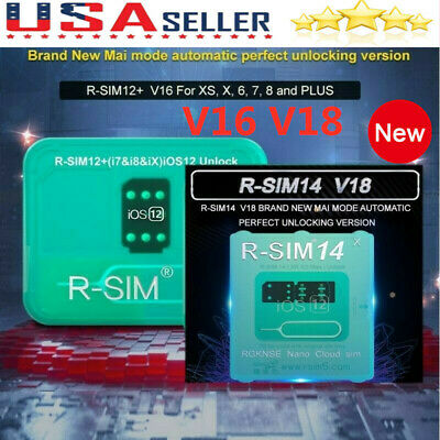 10Pcs R-SIM14 V16/V18 Nano Unlock RSIM Card for iPhone XS MAX/XR/8/7/6 iOS11 12