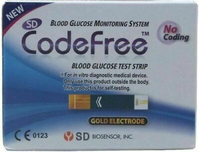 SD CodeFree BLOOD GLUCOSE TEST STRIPS Pack of 100 CE