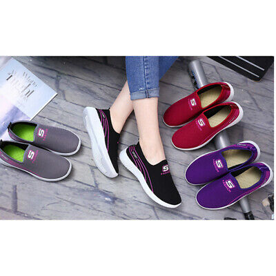 Women Ladies Running Sneakers Flat Shoes Casual Canvas Shoes Flat LoafersCHP