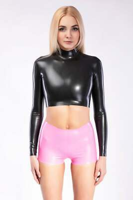 Latex Catsuit Rubber Gummi Long Sleeve Short Pants Sport Outfits Customized .4mm